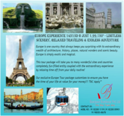 Europe 14N/15D @ Just Rs. 1, 99, 750*