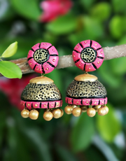 Grab 10% Discount on Shopping of Terracotta Earrings by Anuradha Art