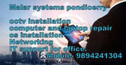 computer and cctv service, IT support 9894241304